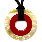 Q11356 POLISHED WITH COLOR INSERT PENDANT