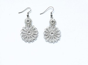 CHAIN OF CIRCLES EARRINGS