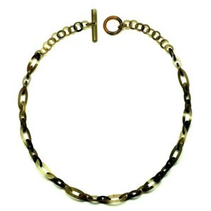 Q113176 SMALL CHAIN WATER BUFFALO HORN NECKLACE